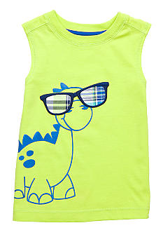 J Khaki Muscle Tank with Chest Stitch Toddler Boys