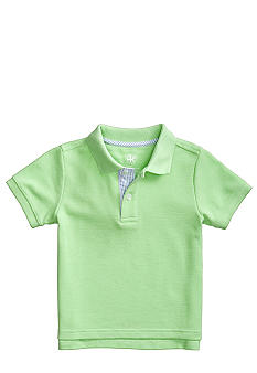 J Khaki Plaid Placket Polo Toddler Boy