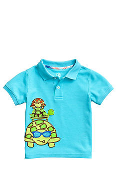 J Khaki Applique Polo Toddler Boy