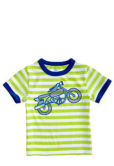 J Khaki Novelty Stripe Crew Toddler Boys