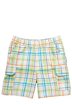 J Khaki Plaid Cargo Shorts Toddler Boys