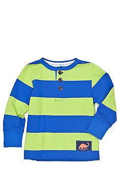 J Khaki Striped Henley Tee Toddler Boys