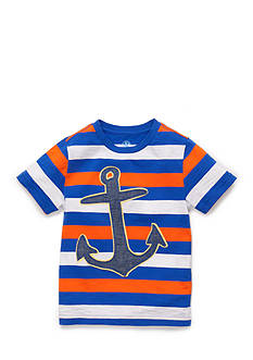J Khaki™ Short Sleeve Striped Novelty Tee Toddler Boys