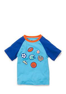 J Khaki™ Short Sleeve Novelty Raglan Tee Toddler Boys