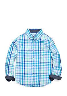 J Khaki™ Long Sleeve Plaid Woven Shirt Toddler Boys