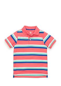 J Khaki™ Short Sleeve Striped Polo Toddler Boys