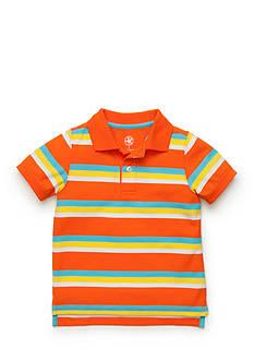 J Khaki™ Short Sleeve Stripe Polo Toddler Boys
