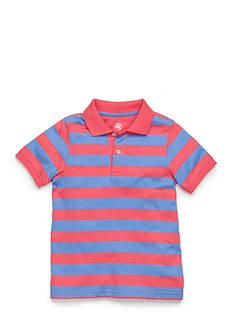 J Khaki™ Short Sleeve Stripe Jersey Polo Toddler Boys