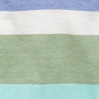 Toddler Boy Hoodies and Fleece: Green Stripe J. Khaki Jersey Popover Hoodie Toddler Boys