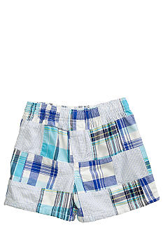 J Khaki Patchwork Plaid Short