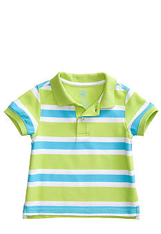 J Khaki Striped Polo