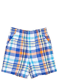 J Khaki Pull-On Plaid Short