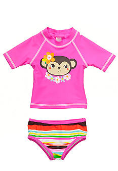 2-Piece Monkey Rashguard Swimsuit