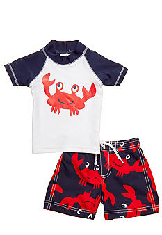 2-Piece Crab Rashguard Swimsuit