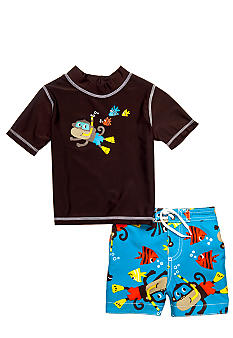 Carter's 2-Piece Monkey Rashguard Swimsuit