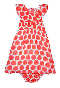 DKNY Viscose Printed Dots Dress Toddler Girls