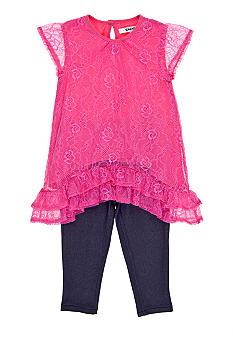 DKNY Becca Lace Dress Set Toddler Girls