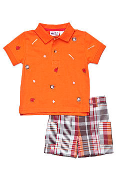 Blueberi Boulevard 2-Piece Baseball Schiffly Polo Set