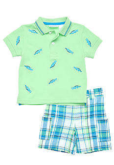 Blueberi Boulevard 2-Piece Alligator Schiffly Polo Set