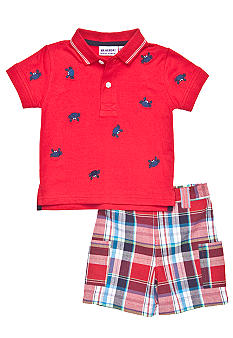 Blueberi Boulevard 2-Piece Crab Schiffly Polo Set