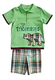 Good Lad Animal Applique Short Set Toddler Boy