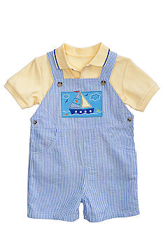 Good Lad Sailboat Seersucker Shortall Set Toddler Boy