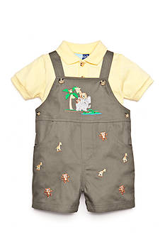 Good Lad 2-Piece Polo Shirt and Noah's Ark Shortall Set