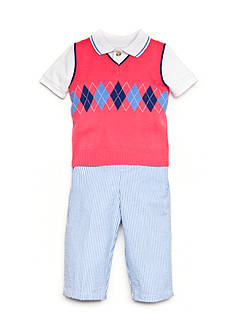 Good Lad 3-Piece Argyle Sweater Vest, Shirt and Pant Set