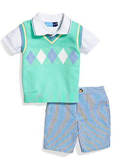 Good Lad 3-Piece Argyle Sweater Vest Set