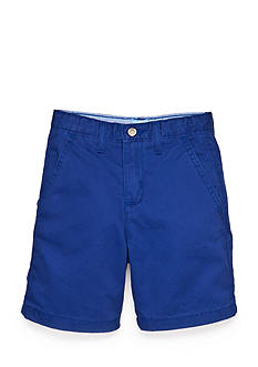 J Khaki™ Solid Flat Front Shorts Toddler Boys