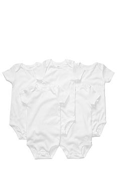 Carter's EDV Newborn 5 Pack White Bodysuits