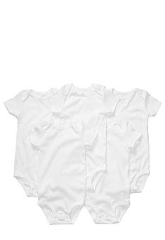 Carter's EDV Newborn 5 Pack White Short Sleeve Bodysuit Set