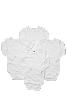 Carter's EDV Newborn 4 Pack White Bodysuit Set