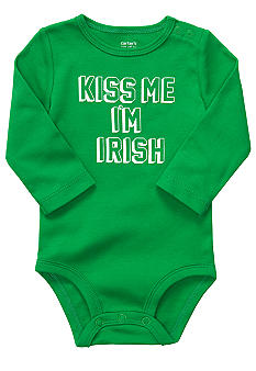 Carter's Kiss Me I'm Irish Bodysuit