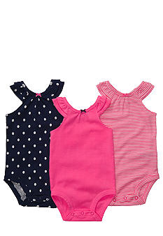 Carter's Bow and Ruffled Set of 3 Bodysuits