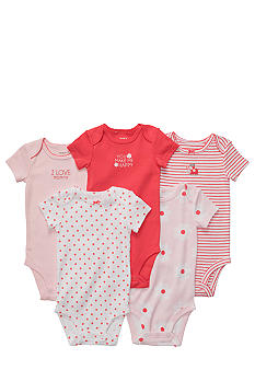 Carter's 5-Pack Pink and Poppy Bodysuits
