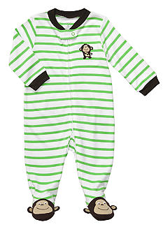 Carter's EDV Stripe Monkey Footed Sleep & Play