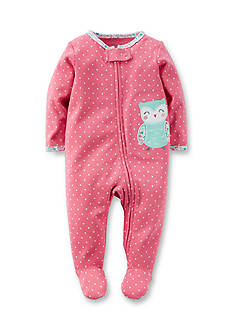 Carter's Graphic Owl Polka Dot Footed Pajamas