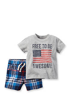 Carter's 2-Piece 'Free To Be Awesome' Short Set