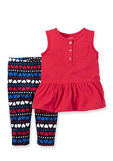 Carter's 2-Piece Hearts and Stars Tunic Pants Set