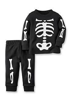 Carter's 2-Piece Skeleton Cotton PJs