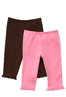 Carter's EDV 2-Pack Pink & Brown Leggings