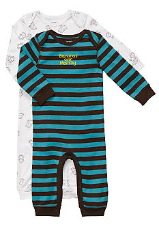 Carter's EDV Monkey 2-Piece Jumpsuit Set