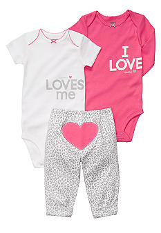 Carter's EDV Heart 3-Piece Bodysuit Set