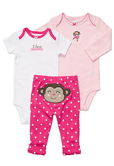 Carter's EDV Monkey 3-Piece Bodysuit Set