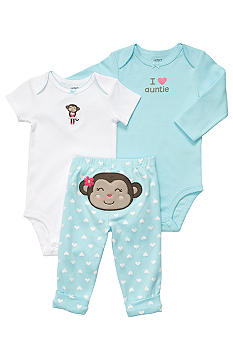 Carter's EDV Blue Monkey 3-Piece Set