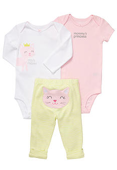 Carter's EDV Kitty 3-Piece Bodysuit Set