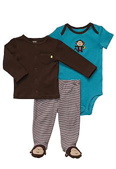 Carter's EDV Monkey 3-Piece Footie Set