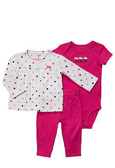 Carter's EDV Pink 3-Piece Cardigan Set