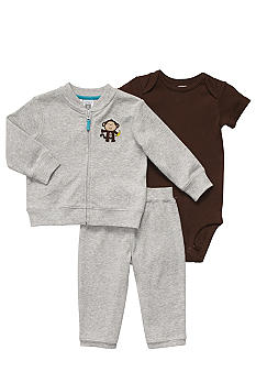 Carter's® EDV Monkey 3-Pc Cardigan Set